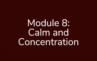 Module 8: Calm and Concentration