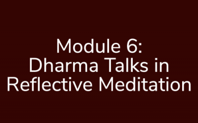 Module 6: Dharma Talks in Reflective Meditation