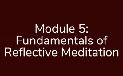 Module 5: Fundamentals of Reflective Meditation