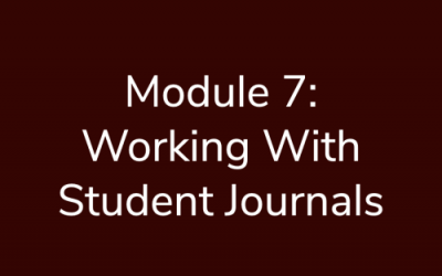 Module 7: Working with student journals