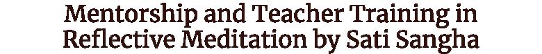 Reflective Meditation for Teachers